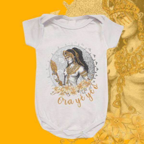 Body Infantil - Oxum Estilizado Cinza