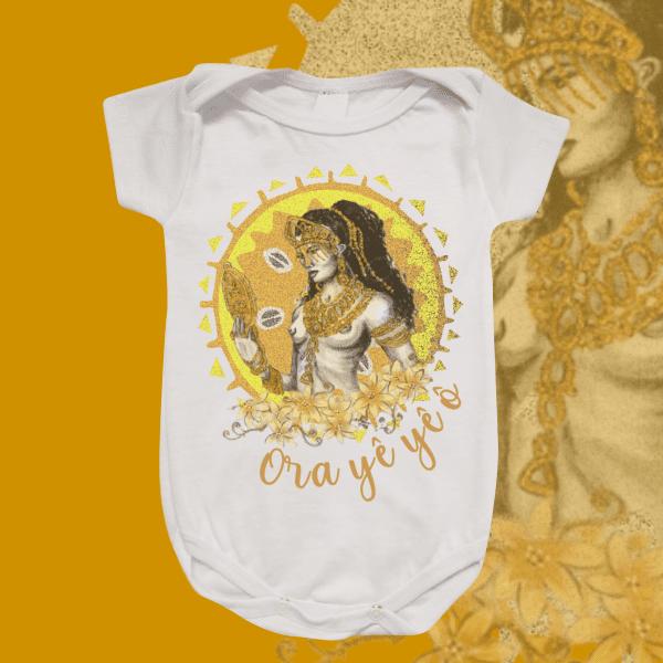 Body Infantil - Oxum Estilizado Dourado