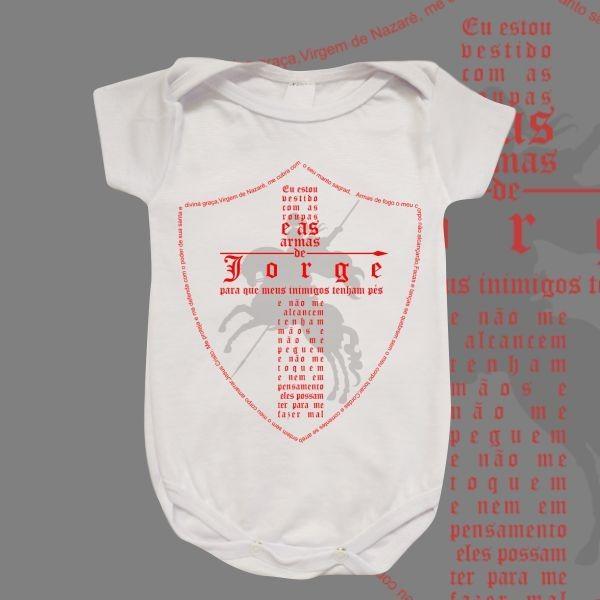 Body Infantil - São Jorge - Escudo Oração completa