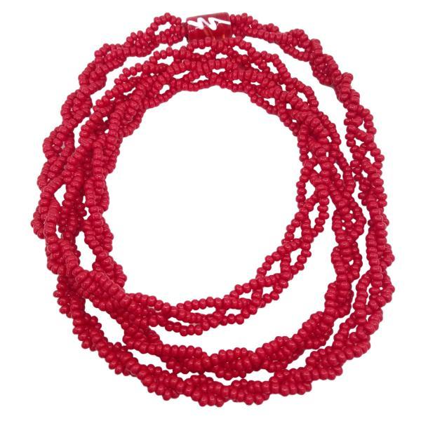Brajá de Iansa com 3 fios trançados- miçanga importada