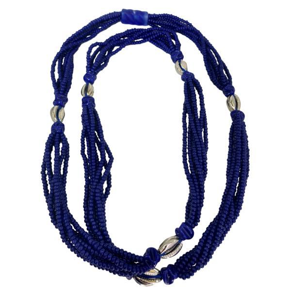 Brajá de Ogum com 7 fios e búzios de metal - miçanga importada