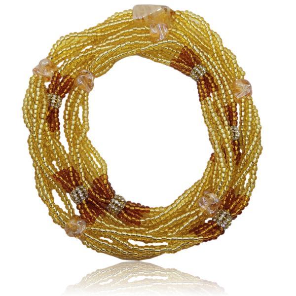 Brajá de Oxum com 5 fios e strass - miçanga importada