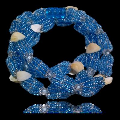 Brajá de Iemanja 8 fios com conchas naturais- miçanga importada