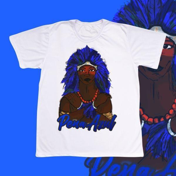 Camiseta Adulto - Caboclo Pena Azul