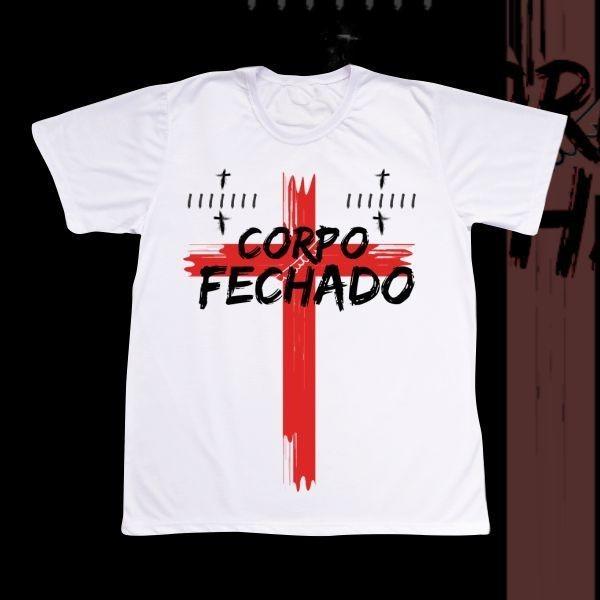Camiseta Adulto -  Corpo Fechado com duas marcas de Kura