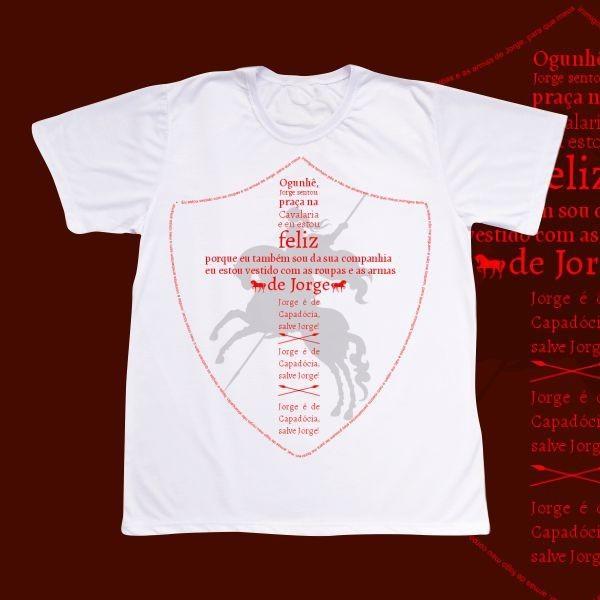 Camiseta Adulto -  São Jorge - Escudo Jorge da Capadócia