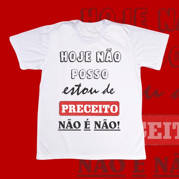 Camiseta Estou de Preceito - modelo escrito