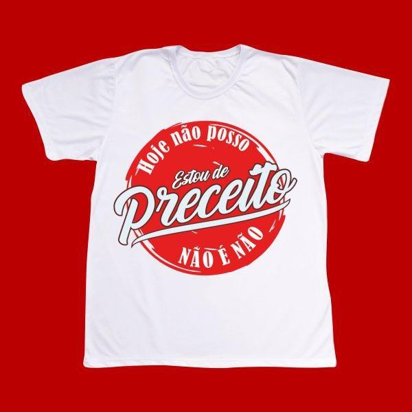 Camiseta Estou de Preceito - modelo artístico