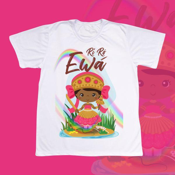 Camiseta Adulto -  Ewá sem franja com cenário