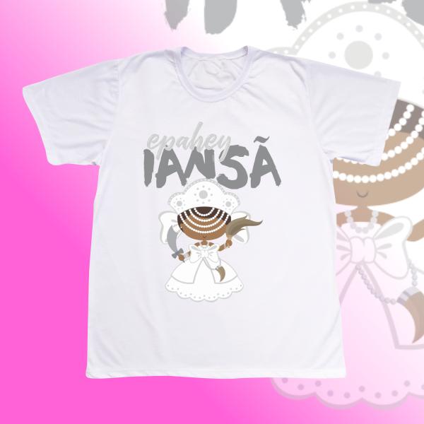 Camiseta Iansa baby branca com franja