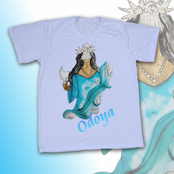 Camiseta Adulto -  Iemanja Aquarela