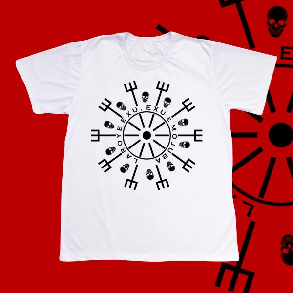 Camiseta Adulto -  Mandala preta Laroye Exu