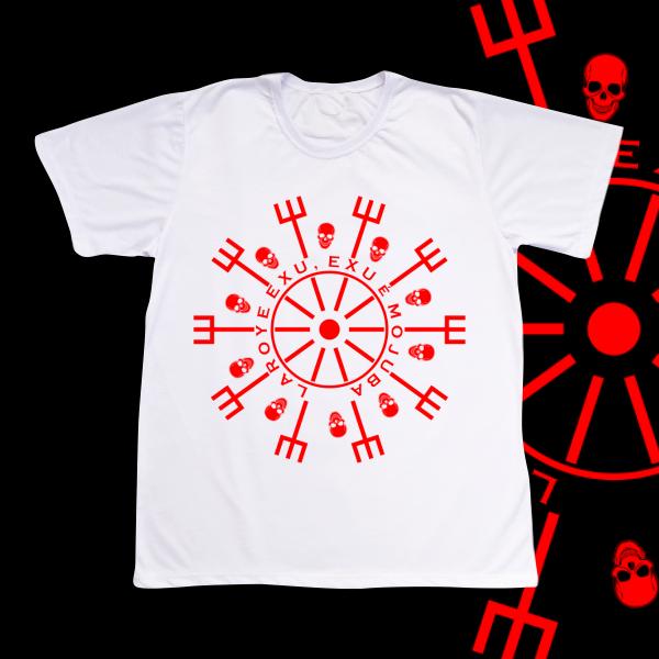 Camiseta Adulto -  Mandala vermelha Laroye Exu