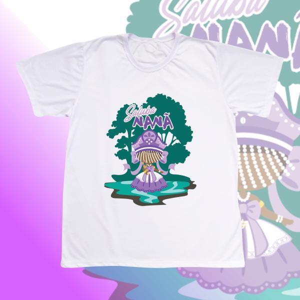 Camiseta Adulto -  Nanã com franja e cenário