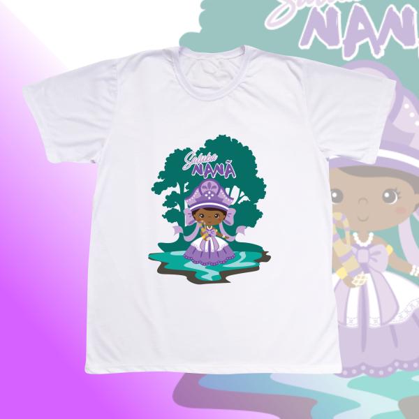 Camiseta Nanã sem franja e cenário