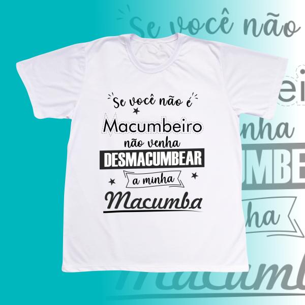 Camiseta Adulto -  Não Desmacumbe preto