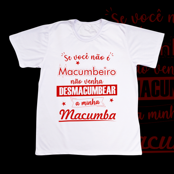 Camiseta Não Desmacumbe vermelho