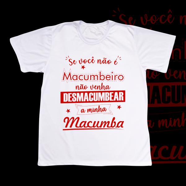 Camiseta Adulto -  Não Desmacumbe vermelho