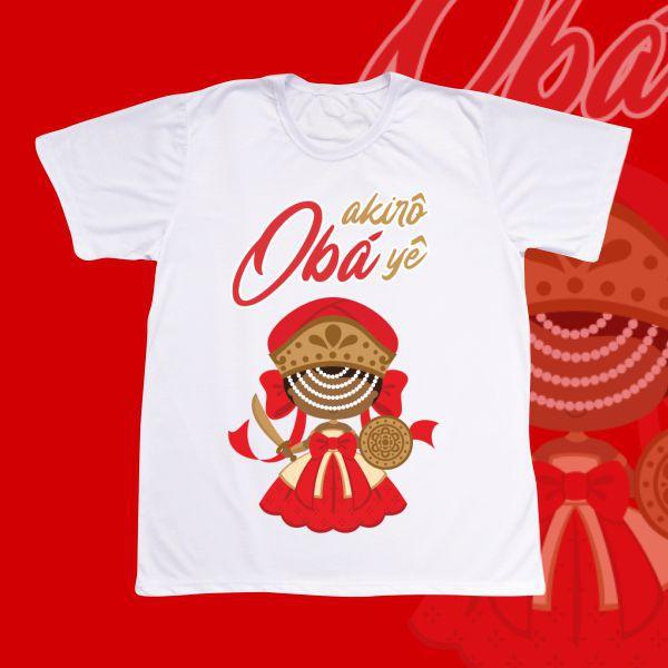 Camiseta Adulto -  Obá com franja e sem cenário