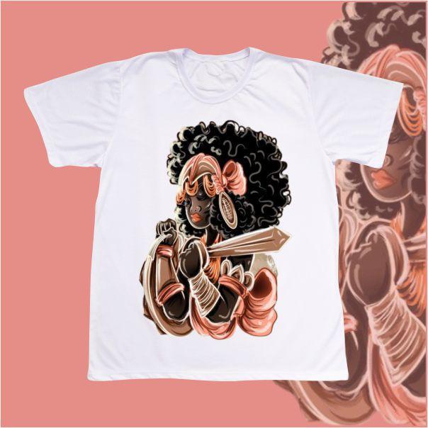 Camiseta Adulto -  Obá desenho