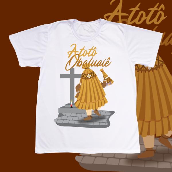 Camiseta Obaluaiê com cenário