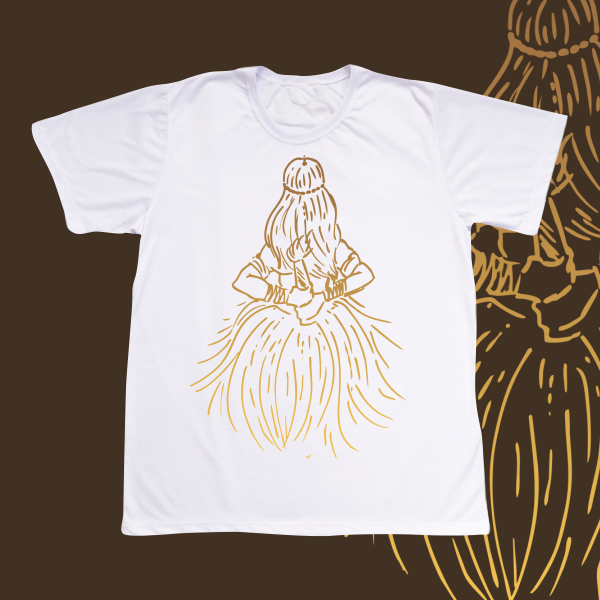 Camiseta Adulto -  Obaluaiê traços dourados