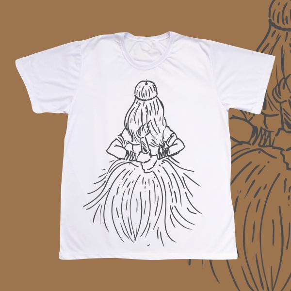 Camiseta Adulto -  Obaluaiê traços pretos