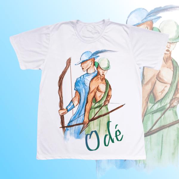 Camiseta Adulto -  Odé aquarela sem mancha