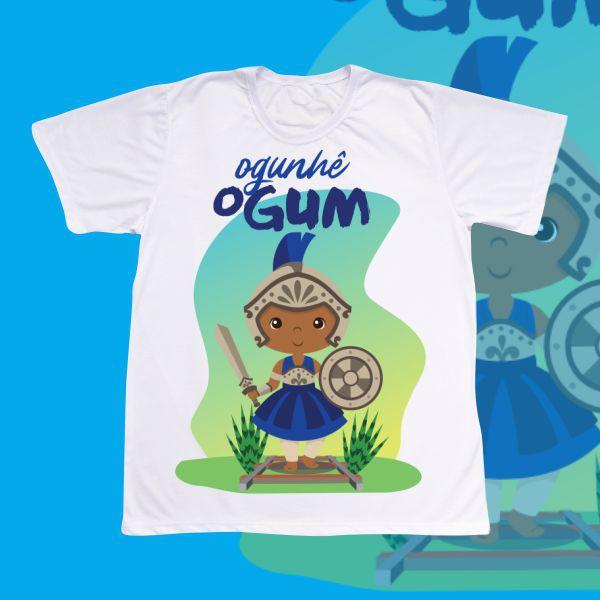 Camiseta Adulto -  Ogum baby azul