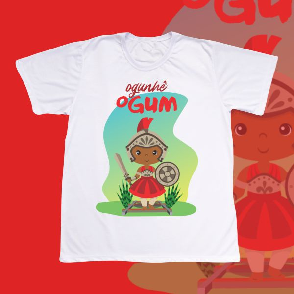 Camiseta Adulto -  Ogum baby vermelho