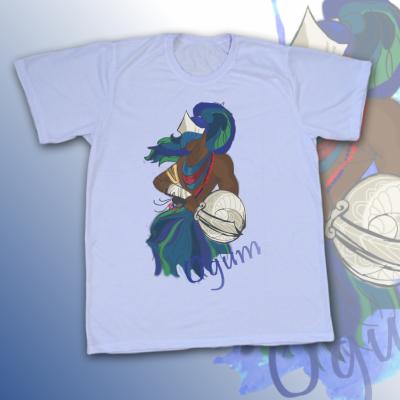 Camiseta Ogum colorido sem mancha