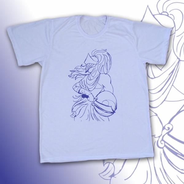Camiseta Ogum vetorizado azul
