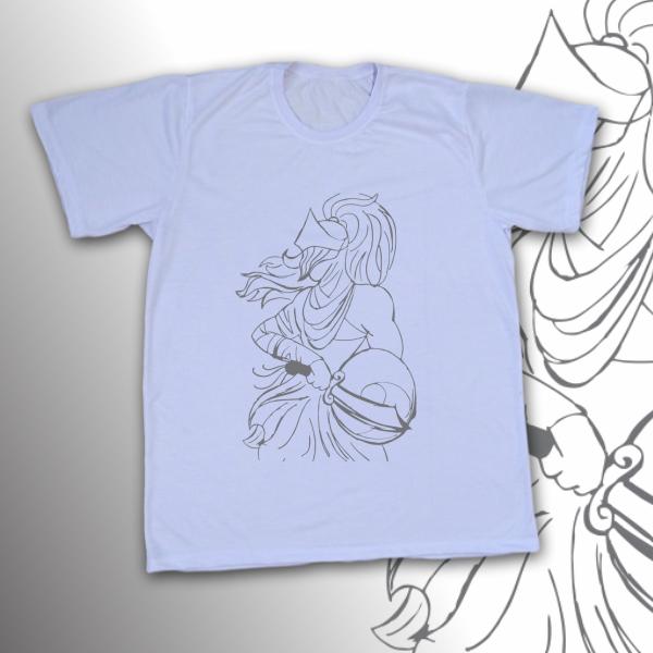 Camiseta Adulto -  Ogum vetorizado preto