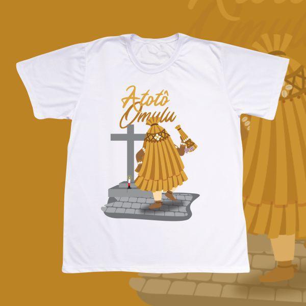Camiseta Omulu com cenário