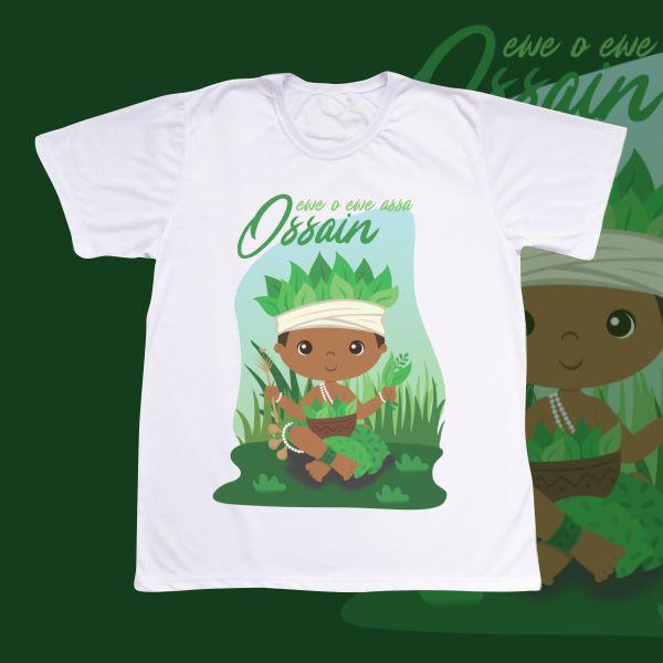 Camiseta Adulto -  Ossain baby com cenário