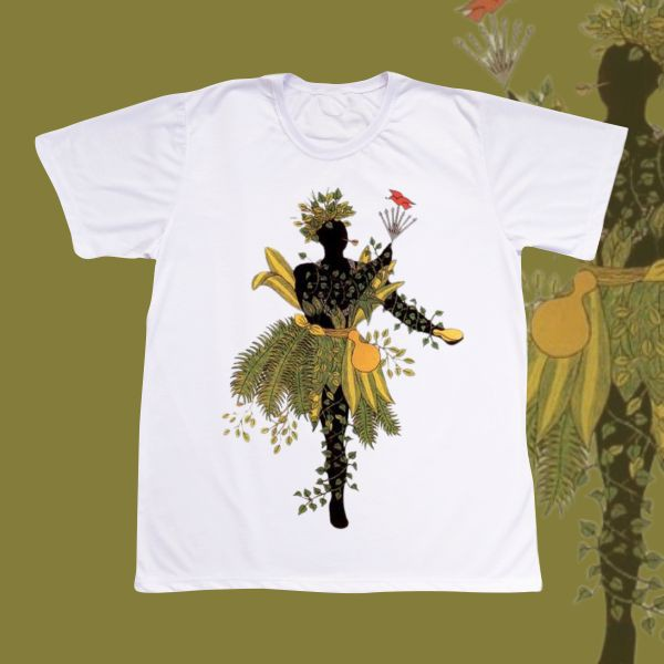 Camiseta Adulto -  Ossain negro