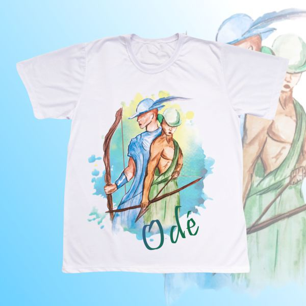 Camiseta Adulto -  Odé aquarela com mancha