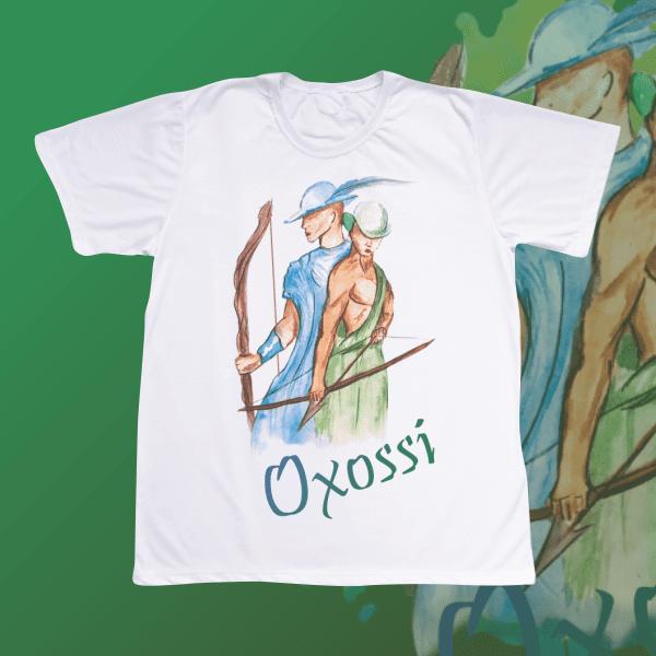 Camiseta Adulto -  Oxossi aquarela sem mancha