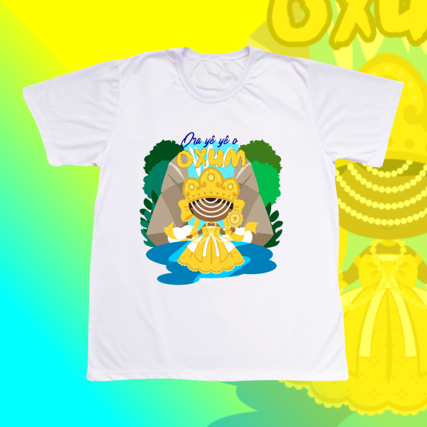Camiseta Oxum com Cachoeira