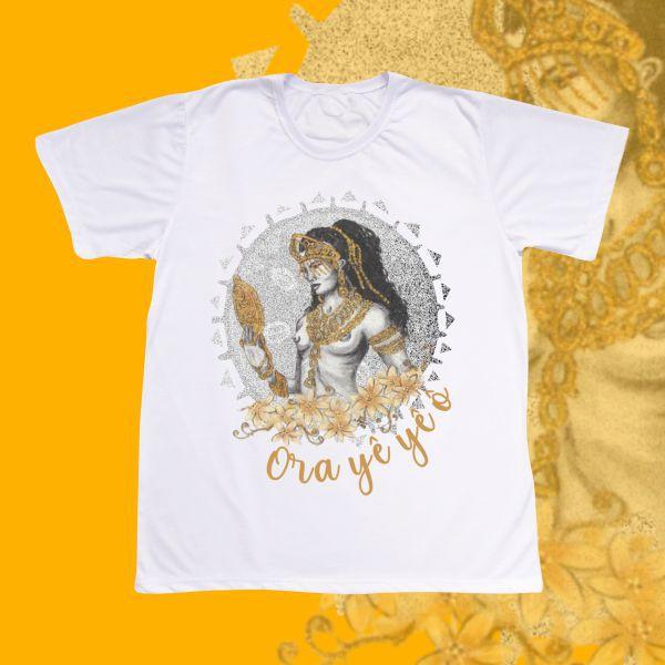 Camiseta Adulto -  Oxum Estilizado Cinza