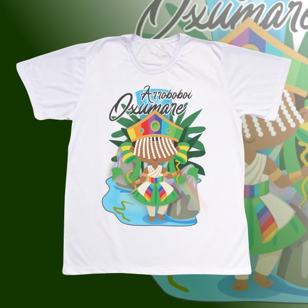 Camiseta Adulto -  Oxumare com franja e com cenário