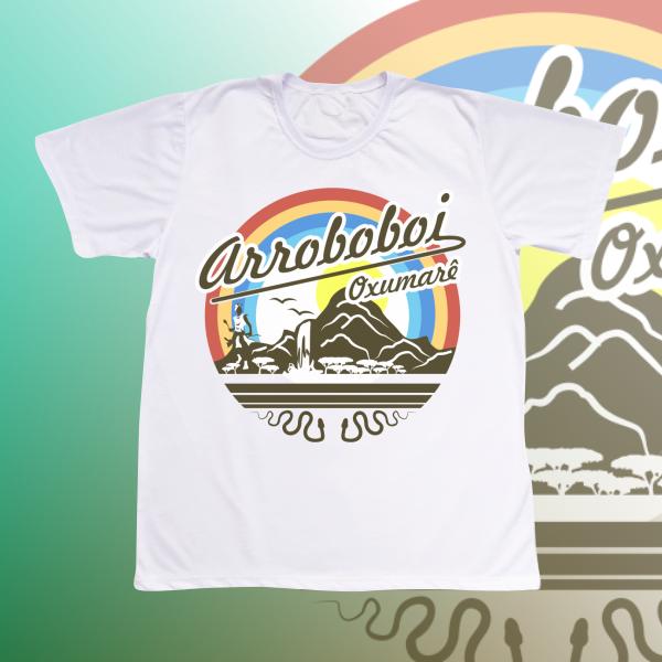 Camiseta Adulto -  Oxumare natureza