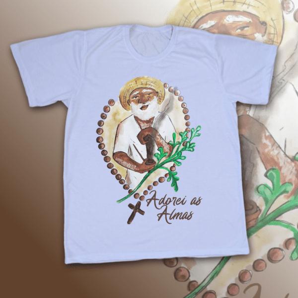 Camiseta Adulto -  Preto Velho Adorei as Almas