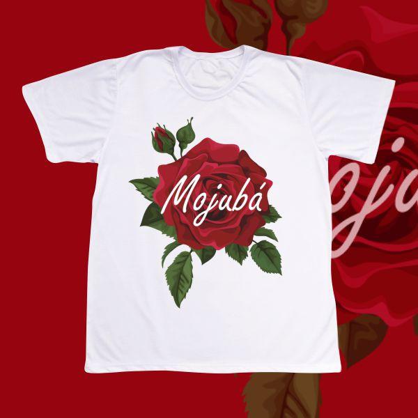 Camiseta Adulto -  Rosa grande e Mojubá