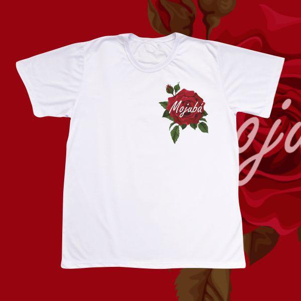 Camiseta Adulto -  Rosa pequena e Mojubá
