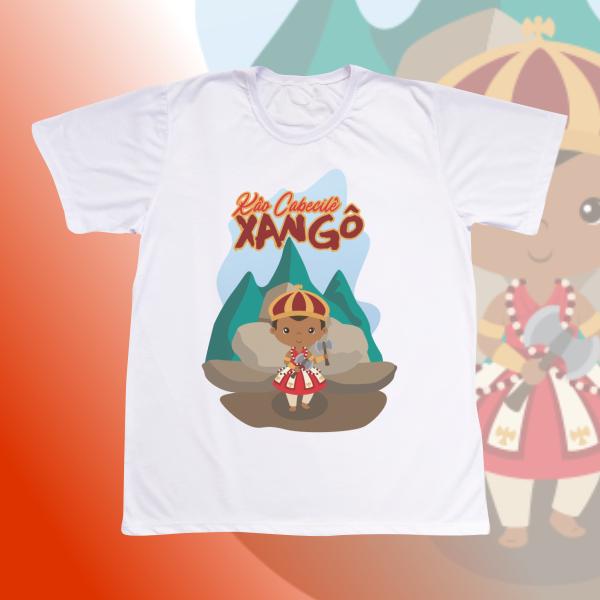 Camiseta Adulto -  Xangô baby com cenário