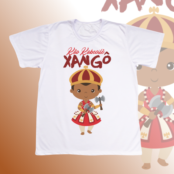 Camiseta Adulto -  Xangô baby sem cenário