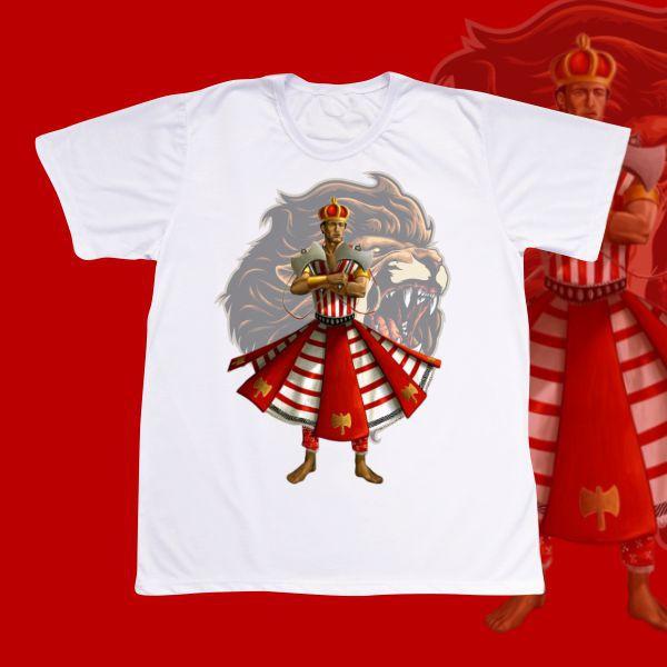 Camiseta Adulto -  Xangô com Leão