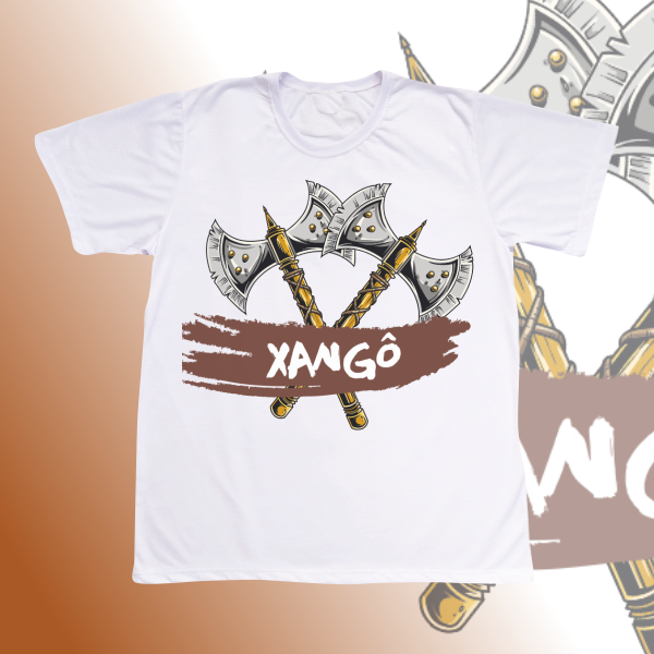 Camiseta Adulto -  Xangô machado cruzado