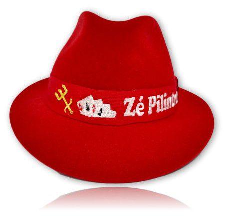 Chapéu Fedora Zé Pilintra com tridente e fita personalizada
